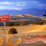 Numele Domnului luat în deșert, uitat acolo
